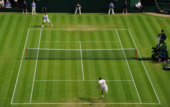 tennis guides when approach singles